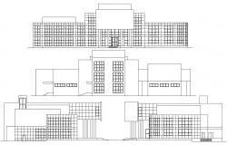 Building Elevation Design CAD File