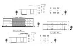 Building Elevation Design CAD File Download