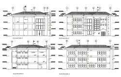 Building Elevation Drawing CAD Plan