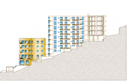 Building Elevation design dwg file