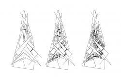 Building Floor Area CAD Drawing