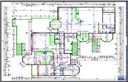 Building Floor detail dwg file