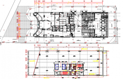 Building Floor plan with Detailing