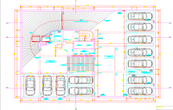 Building Parking plan dwg file