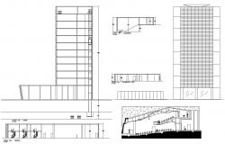 Building Section And Elevation View DWG File