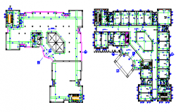 Building Section view, Building Plan view  of dwg file