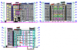 Building Section view detailing dwg file