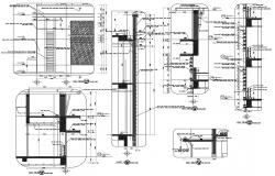 Building Wall Section Plan DWG File