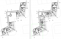 Building a multifamily plan detail dwg file.