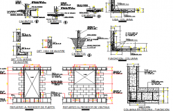 Building construction details with column and beam dwg file