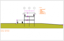 Building cross section view dwg file