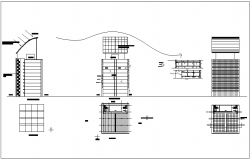 Building design view with view of environmental base dwg file