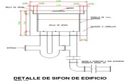 Building detail siphon dwg.