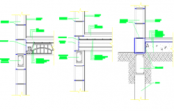 Building details with wall block details dwg file