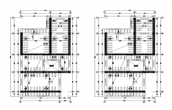 Building electrical installation 2d view layout plan