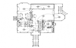 Building electrical installation detail plan.2d view layout file