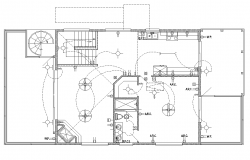 Building electrical wiring installation detail plan 2d view layout file