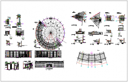 Building elevation section view dwg file