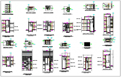 Building elevators information dwg file