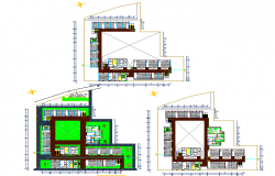 Building engineering plan detail dwg file