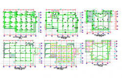Building foundation design DWG file