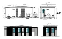 House building design in DWG file