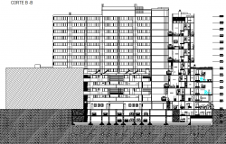 Building in height detail detail dwg file