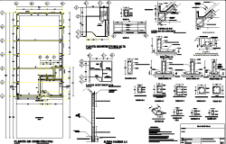 Building material plan and section detail dwg file