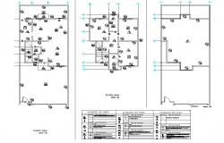 Building material used home plan detail dwg file