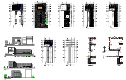Building plan and design view dwg file