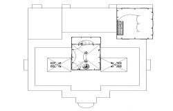 Building plan and electrical installation detail 2d view layout file