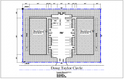 Building plan layout view detail dwg file