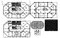 Building plan with detail dimension in dwg fil