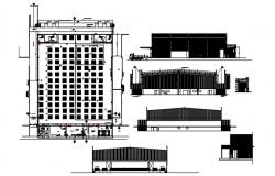 Factory Building Plan AutoCAD Drawings