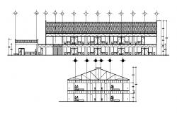 Building plan with detail dimension in dwg file