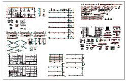 Building planning and structural design detail dwg file
