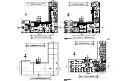 Building school plan detail dwg file
