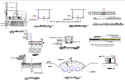 Building section plan detail dwg file