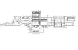 Building sectional layout 2d view autocad file