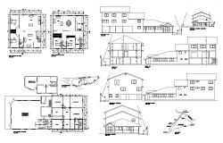 Building structure detail plan and elevation 2d view CAD construction block autocad file