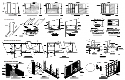 Building structure material section detailing dwg file