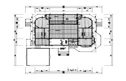 Building terrace plan detail 2d view autocad file