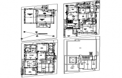 Bungalow  house plan dwg file