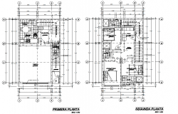 Bungalow  top view layout plan