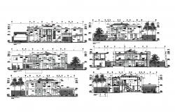 Bungalow Design with scetion and elevation in dwg file