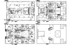 Bungalow Electrical Wiring Plan AutoCAD Drawing