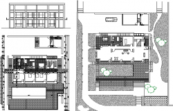Bungalow Elevation Plan and Section Detail dwg file
