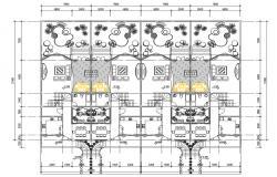 Bungalow Ground Floor Plan CAD Drawing Download