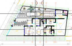 Bungalow Layout plan dwg file