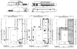 Bungalow Project Design AutoCAD Drawing